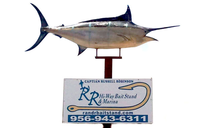 R and R Hiway Bait Stand sign